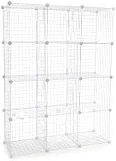 KC Store Fixtures 04122 Mini Grid Clothes Organizer, 3-Foot by 4-Foot, White