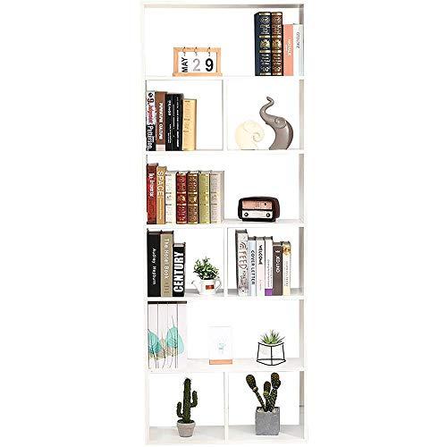 Libreria Scaffale Bianca Libreria Cubi Moduli Ufficio Moderna Contemporanea Bifacciale Divisorio. Libreria Giorno 70X23.5X190 Autoportante Mensole Scaffali Muro Design Ingresso