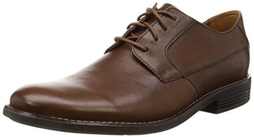 Clarks Becken Plain, Zapatos de Cordones Derby para Hombre, Marrón (Tan Leather), 40 EU