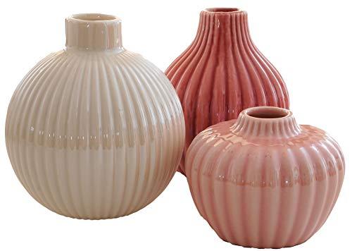 khevga Deko-Vasen 3er Set aus Porzellan