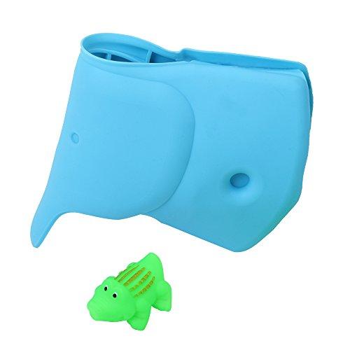 ZMunited Blau Elefant Badewannenhahn Ecke Abdeckung für Baby Bad Ausguss Abdeckung für Kinder Badewannen Spielzeug Baby Badewanne Sicherung Krokodil Geschenk