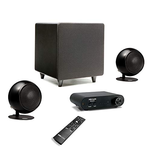 Orb Audio: Booster1 Micro Soundbar and Stereo Speaker System with EZ Voice - Remote Included - TV Sound Bar Alternative - Provides Crisp, Detailed Sound - Lifts Dialogue Above Background Noise