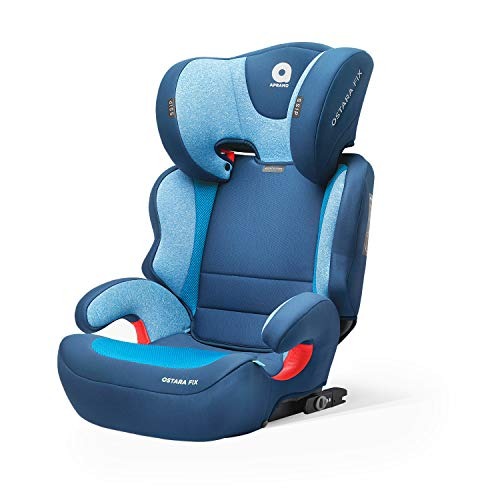 APRAMO Ostara Fix Kinderautositz Gruppe 2/3 (15-36 kg) Autositz Kindersitz ab ca. 3 bis ca. 12 Jahre (MARINEBLAU)