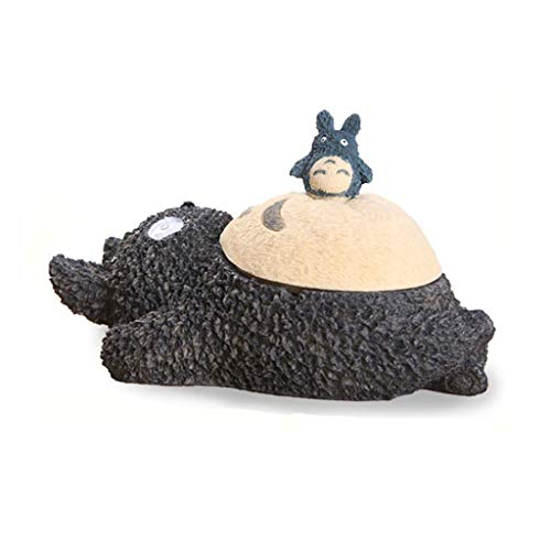 Cenicero Cenicero de resina con la tapa de la tapa de la mesa de café de la mesa de escritorio de la mesa de la mesa imitación del gato del gato del sueño 8.26 pulgadas de largo Cenicero sin humo