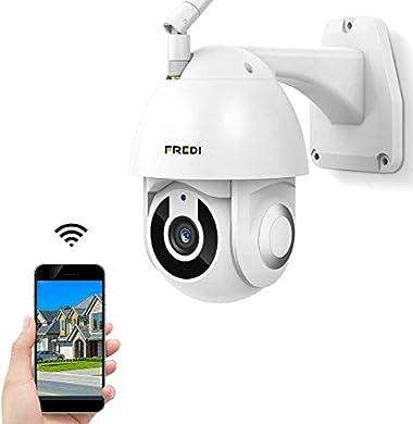 Foto di FREDI HD 1080P ptz telecamera di sorveglianza Videocamere di Sorveglianza WIFI Esterno con Rilevamento del Movimento, IP65 Telecamera IP Camera Wireless, IP Cam senza fili