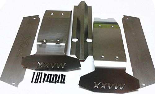 Meijunter Stainless Steel Body Guard Chassis Plate Protector for 1/10 Scale Traxxas X-Maxx 6S Big Foot Truck