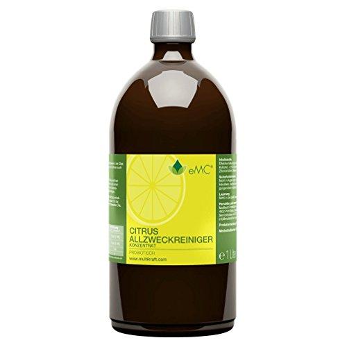 EMC Citrusreiniger Probiotisch Zitrone Konzentrat, 1 Liter - Extrem ergiebig!
