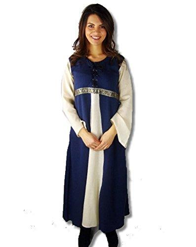 Leonardo Carbone Mittelalter Kleider kleine Maid - Kinder Adelskleid - Kinder Piccola Donna XS/blau/Natur