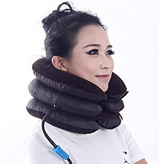 Denique Air Pillow Bag Tractor Cervical Collar Neck Vertebra Traction Massager for Pain Relief Tool Health Care Three Laye...