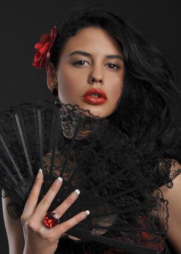 Bristol Novelty Fan Mexicaine Lady Black Lace