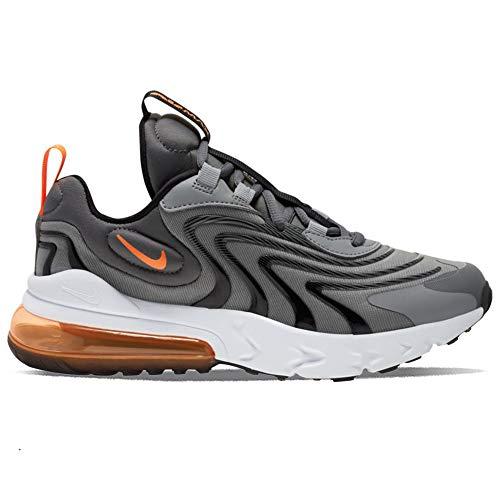 Nike Air Max 270 React ENG (GS), Scarpe da Basket Bambino, Iron Grey/Total Orange-Particle Grey-Black, 38 EU