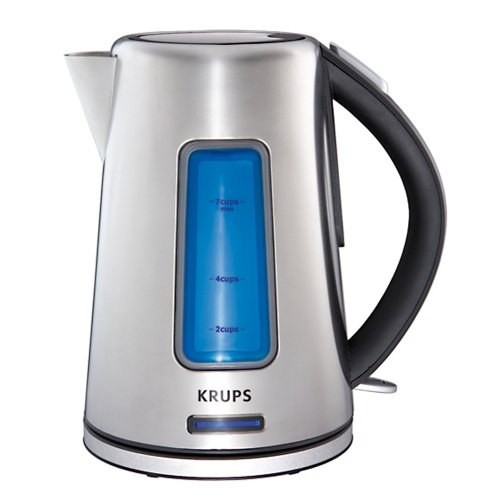 KRUPS BW3990 Prelude Electric Kettle with Light Water Level Indicator and Stainless Steel Housing, Silver