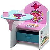 Delta Children Chair Desk with Storage Bin, Trolls World Tour