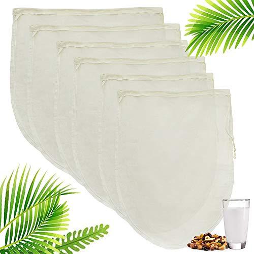 Nussmilchbeutel, Passiertuch, Cheesecloth, Nut Milk Bags (6er) Filterbeutel Pack KäSetuch, Stellen Sie Verschiedene Saftfilter FüR Mandelmilch
