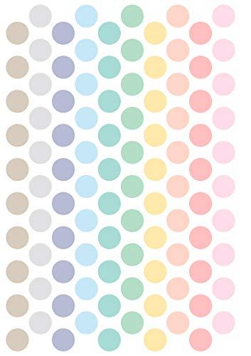 MINIMOI | Vinilo Infantil de Pared | Dots Pastel Colors