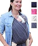 myla elastisches Baby-Tragetuch Tragetuch fürs Babies und Kinder bis max. 15kg hoher Tragekomfort passend für jede Trägergröße weich & anschmiegsam