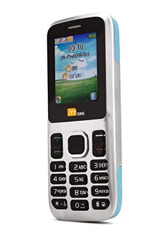 TTfone Dual Sim TT130 Mobile Phone - Camera - Bluetooth - Cheapest Twin 2 Sim Phone (with USB Cable, Blue)