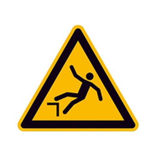 Schild Warnung vor Absturzgefahr Warnzeichen Größe (SL): 10,0cm Alu