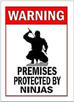 忍者壁鉄の絵画で保護レトロなプラークヴィンテージ金属シート装飾ポスター面白いポスターぶら下げ工芸品バーガレージカフェホーム