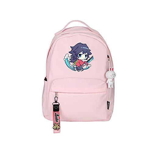 ZZGOO-LL Demon Slayer: Kimetsu no Yaiba Tanjirou/Nezuko/Tomioka Giyuu Anime Backpack Middle Student School Rucksack Daypack for Women/Men
