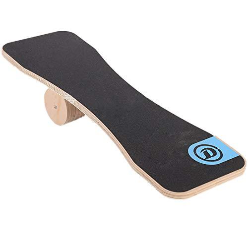 LLC-POWER Houten Balansbord, Premium Balance Trainer voor Fitness met Roller, voor Surf, Ski, Snowboard En Skateboarden, Perfect Verbeterende Kernsterkte