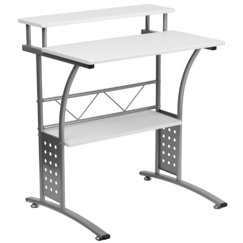 Flash Furniture Clifton White Computer Desk