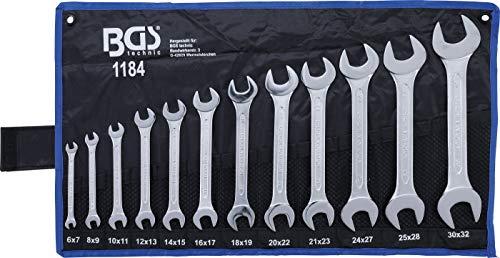 BGS 1184 | Juego de llaves fijas dobles | 6x7 - 30x32 mm | 12 piezas