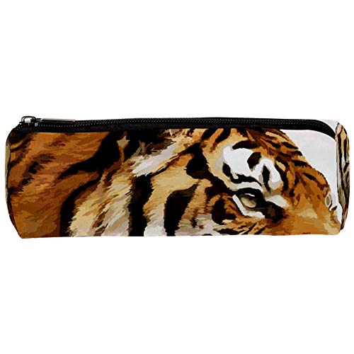 TIZORAX - Estuche diseño tigre boca grande lápices