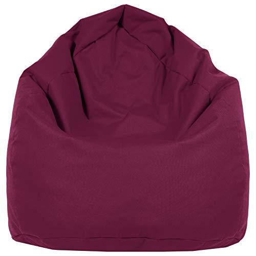 Pouf a forma di cuscino di misura XL, per interni ed esterni, in 12colori bordeaux