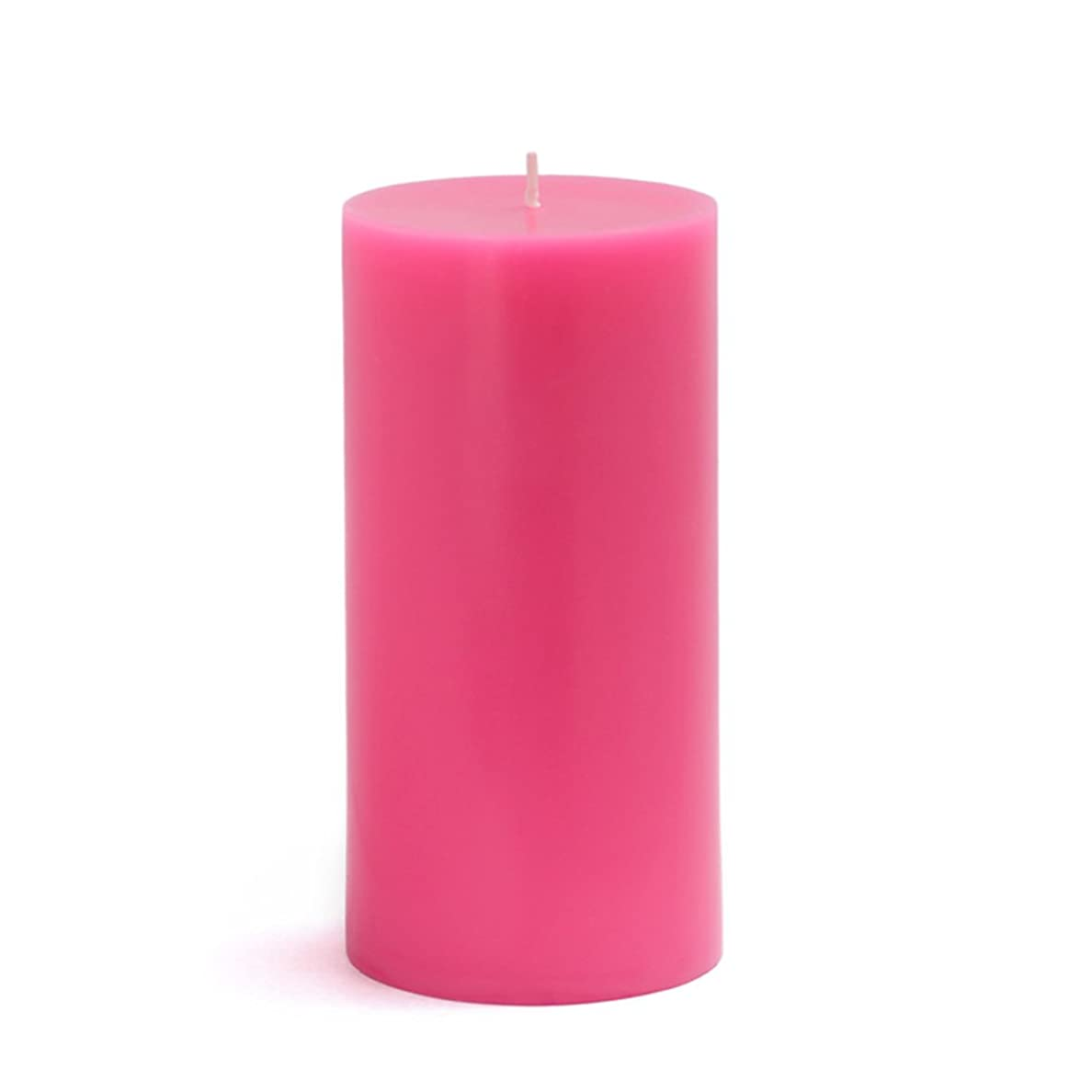 贅沢転倒支配的Zest Candle CPZ-084-12 3 x 6 in. Hot Pink Pillar Candles-12pcs-Case - Bulk