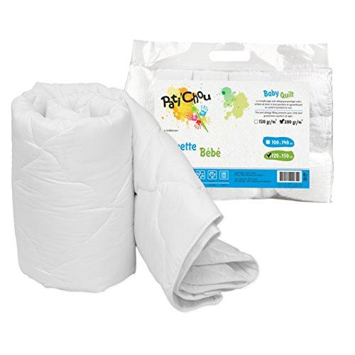 Pati'Chou Couette douce et chaude d'hiver tissu 100% coton 120x150 cm (pour lit bébé et enfant 70x140 cm)