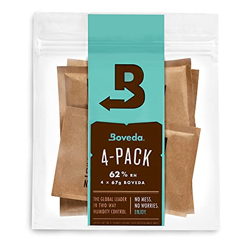 Boveda 62% RH 2-Way Humidity Control | Size 67 in 4-Count Resealable Bag