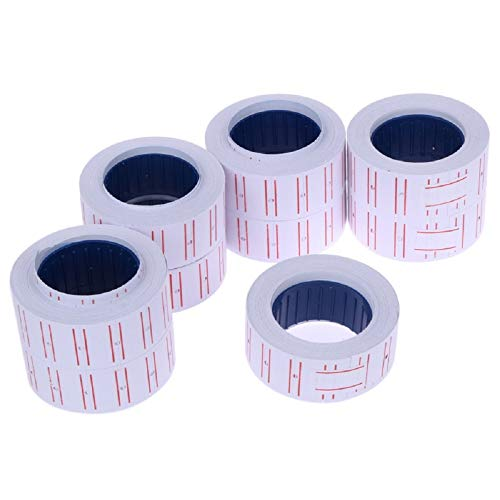 10 Rolls 4000 labels per meter Precision mx5500 Red
