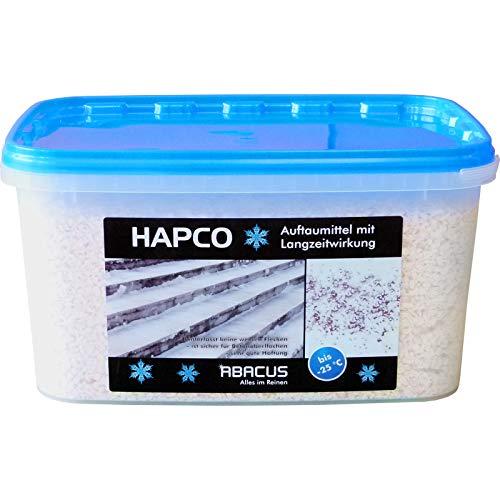 HAPCO 5 KG (4049) - Auftaumittel Streusalz Schnee-Weg Schnee-Auftaumittel Taumittel Calciumchlorid Calcium-Chlorid - ABACUS