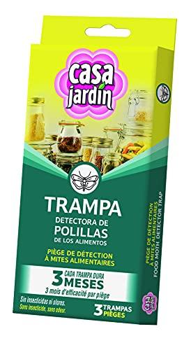 CASA JARDIN | Trampa Detectora de Polillas de los Alimentos| No Contiene Insecticida |No Mancha | No Huele |3 Meses de Duración | Contenido: 3 Trampas