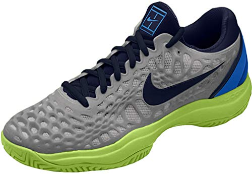 Nike Air Zoom Cage 3 HC, Zapatillas de Tenis para Hombre, Multicolor (Vast Grey/Blackened Blue/Signal Blue 004), 47.5 EU