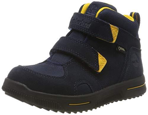 Timberland Unisex-Kinder City Stomper 2 Strap Mid Goretex Klassische Stiefel, Blau (Navy Suede), 36 EU