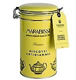 Galletas de jengibre y limón hechas a mano de Marabissi en lata de metal - 1 x 200 gramos