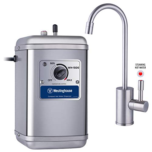 Westinghouse Instant Hot Water Dispenser, Includes Brushed Nickel Faucet