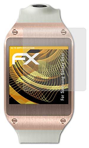 atFoliX Panzerfolie kompatibel mit Samsung Galaxy Gear Schutzfolie, entspiegelnde & stoßdämpfende FX Folie (3X)