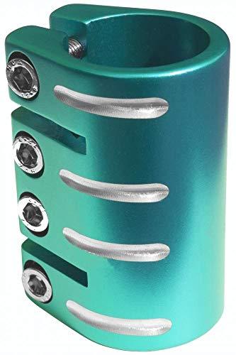 Blazerpro Pro Quad Clamp Accesorios Patinaje, Unisex Adulto, Verde (Teal), 34,90mm