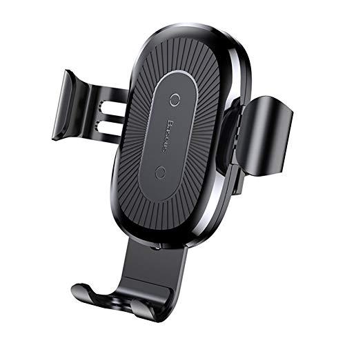 GTJXEY Cargador inalámbrico para automóvil, Soporte de Auto-sujeción Qi de Carga rápida de 10 vatios, Cargador inalámbrico Qi para automóvil Baseus para iPhone XS MAX X 8 Samsung S10 Xiaomi mi