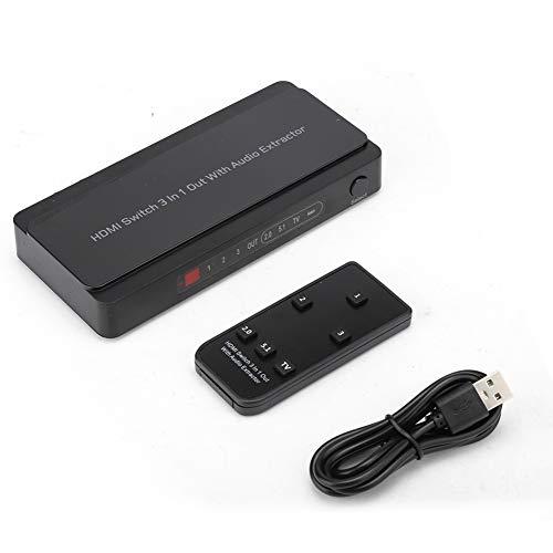 Yeelur Extractor de Audio 4K, Extractor de Audio HDMI 3x1 para TV para Juegos