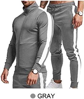 2 pieces Elegant Men's Training Gym/Jogging Tracksuit sporty bejama fixed colored against laundry