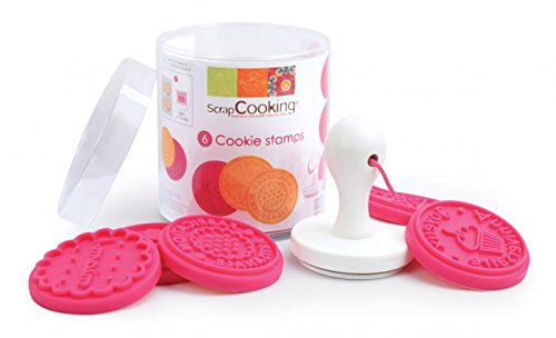 ScrapCooking Cookie Stamp Kit, Pink