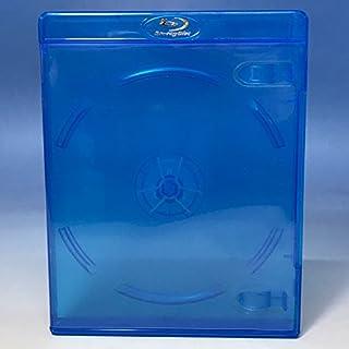 【11mm厚】 スリム ブルーレイケース 1枚収納 100個 / クリアブルー/ロゴ有 (Blu-rayケース/BDケース)