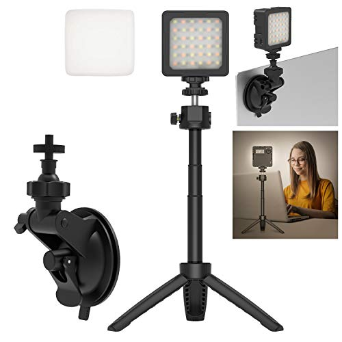 HAFOKO Iluminación Video Conferencia Kit Trabajo Remoto Zoom Llamada Luz LED Escritorio Video Smartphone Vlogging Light Cámara Vlog Iluminación Compatible con Portátil Reunión Clase en Línea Youtube