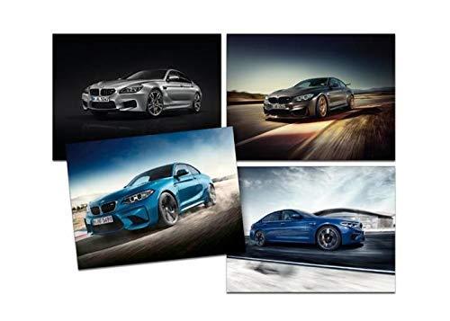 BMW Neu Original M Collection M4 4 Bild Foto Poster Satz 80282454748