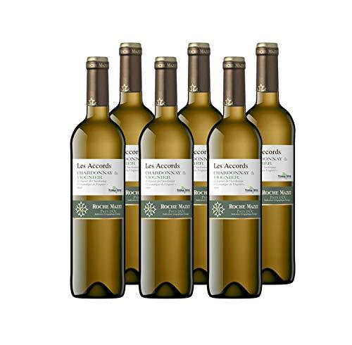 Les Accords de Roche Mazet - Chardonnay Viognier - IGP Pays d'Oc - Terra Vitis - Lot de 6 bouteilles x 75 cl