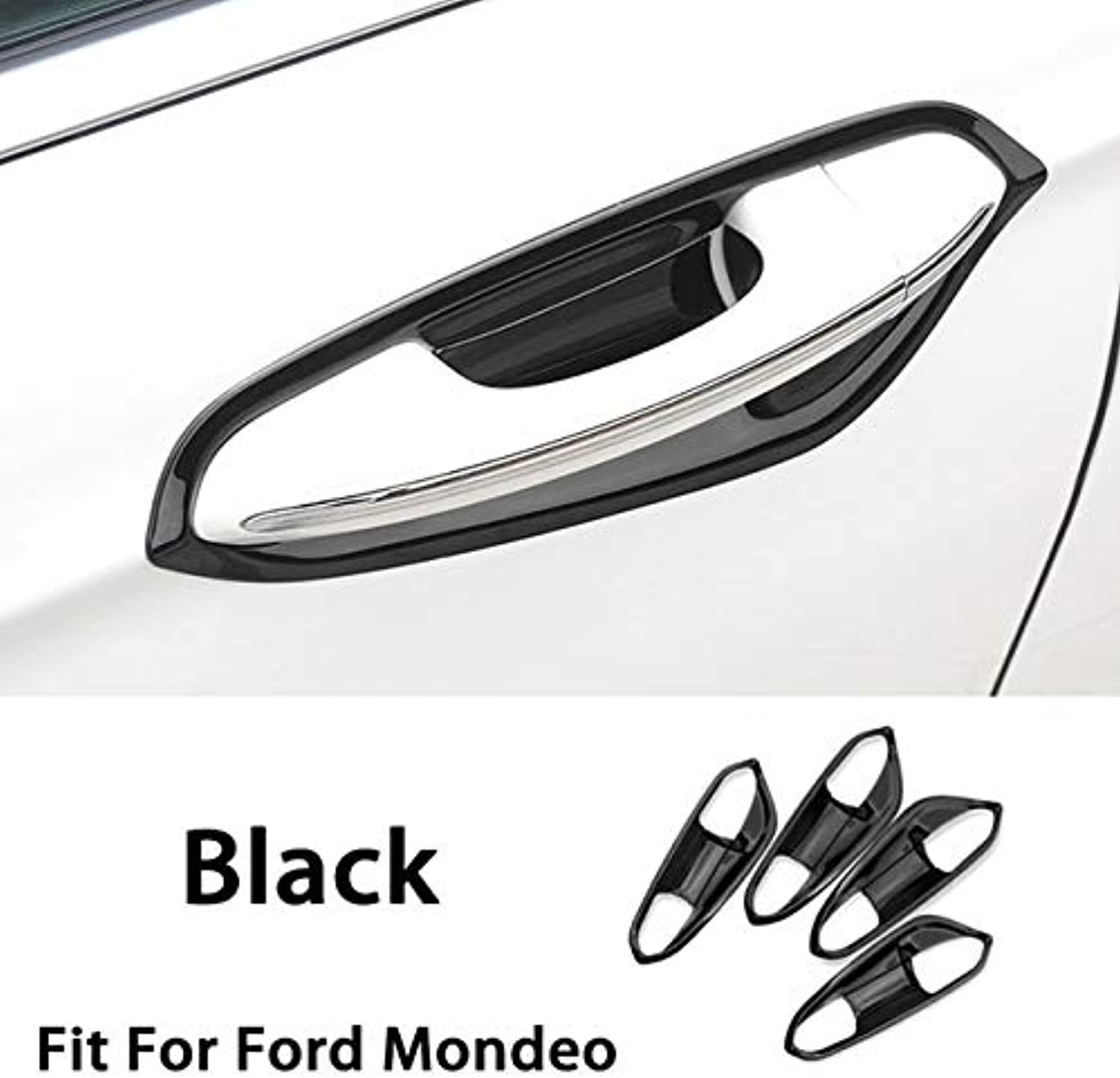 Auto Car Styling Stainless Steel Stickers for Ford Mondeo MK5 2017 2018 Exterior Door Handle Bowl Frame Covers Accessories  (color Name  8pcs Frame Black)
